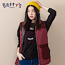 betty's貝蒂思 圓領小貝羊戴眼鏡長袖T-shirt(黑色)