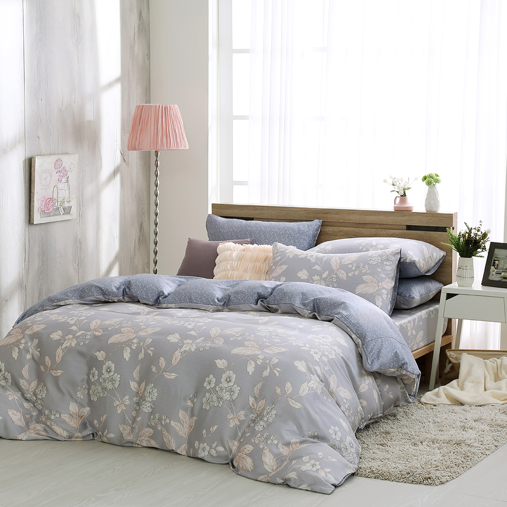 鴻宇 雙人床包兩用被套組 天絲 萊塞爾 凱薩琳 台灣製