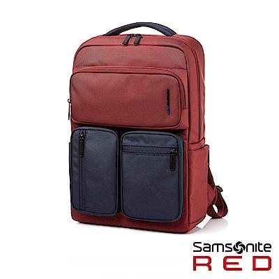 Samsonite RED ALLOSSE 多隔層收納型筆電後背包14(酒紅/藍)