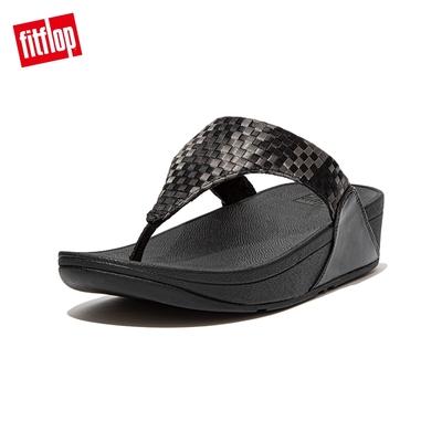 FitFlop LULU SILKY WEAVE TOE-POST SANDALS 經典舒適夾腳涼鞋-女(黑色)