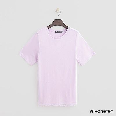 Hang Ten - 女裝 - 合身圓領素面T恤 - 粉
