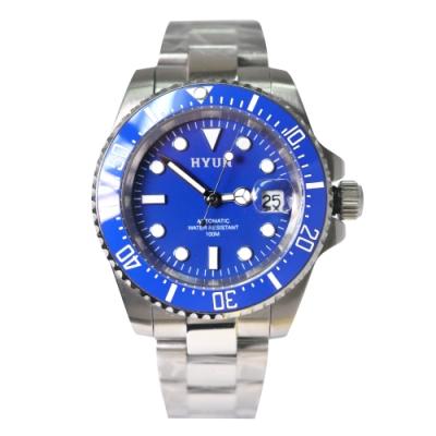 HYUN 白鋼男士設計精品錶-藍