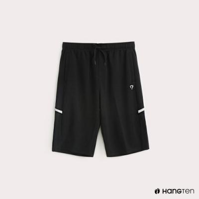 Hang Ten-ThermoContro-男裝素面反光印條機能休閒短褲-黑