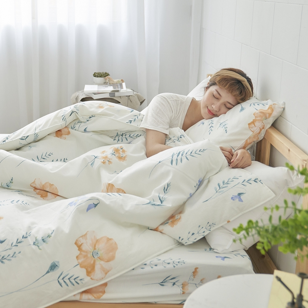 BUHO 天然嚴選純棉單人床包+雙人兩用被套三件組(多款任選-A)