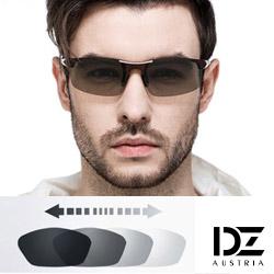 DZ 競速狂潮變色片 抗UV 偏光 太陽眼鏡墨鏡(黑框)