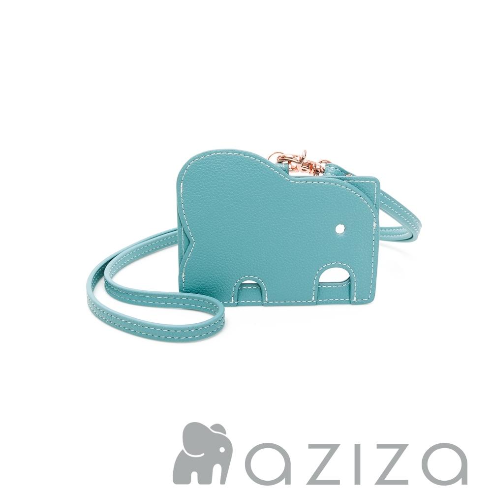 aziza 小象證件套 -松石綠