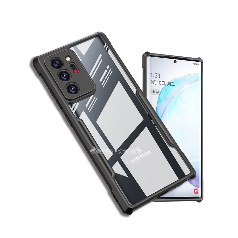 XUNDD 軍事防摔 三星 Samsung Galaxy Note20 Ultra 5G 清透保護殼 手機殼(深槍灰)