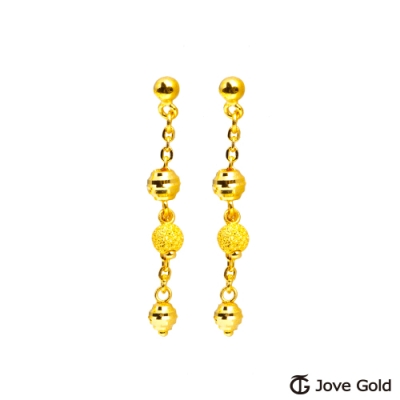 Jove Gold 漾金飾 點滴回憶黃金耳環