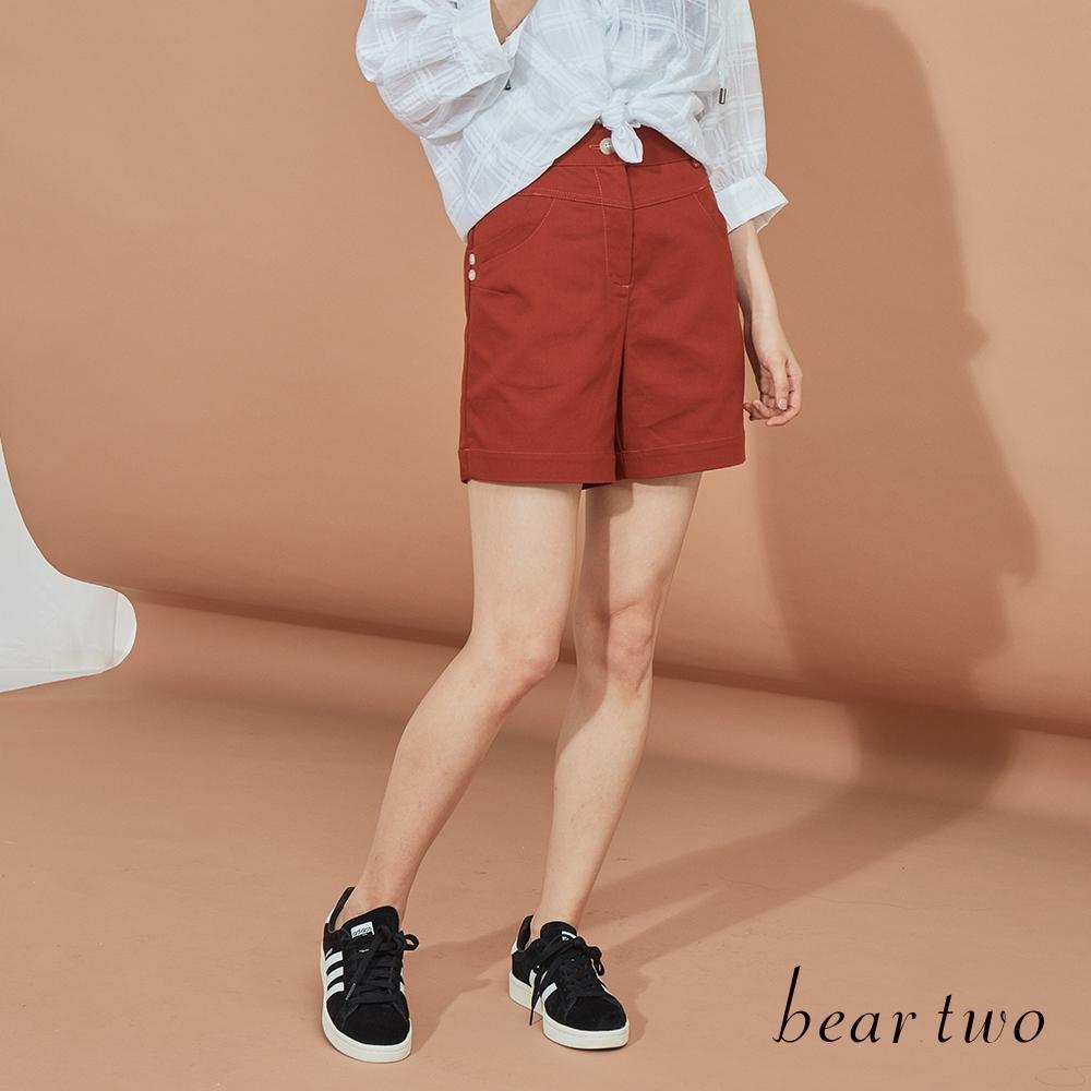 beartwo-俏皮短褲-咖啡