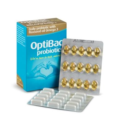 OptiBac 歐寶亞麻籽油Omega3益生菌 (30顆+30顆入/盒裝)