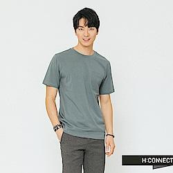 H:CONNECT 韓國品牌 男裝-素面口袋圓領T-shirt-深藍