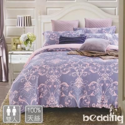 BEDDING-100%天絲萊賽爾-雙人薄床包+鋪棉兩用被套四件組-多款任選