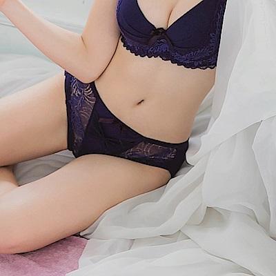 蕾絲蝴蝶結提花透膚包臀內褲-OB大尺碼