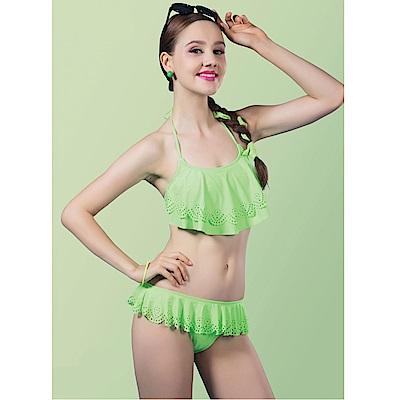 Avalanche巴西泳裝-香水羽毛-平口大荷葉比基尼