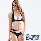 夏之戀SUMMERLOVE 時尚黑白大女比基尼二件式泳裝