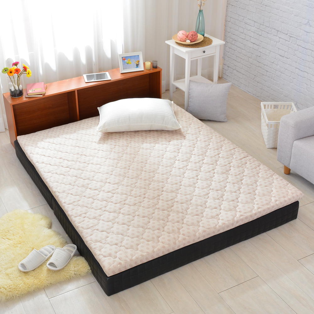 LooCa 冬夏兩用5cm防蹣防蚊HT乳膠床墊 點點 單大3.5尺