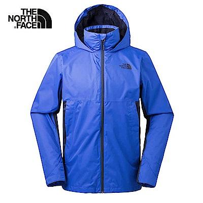 The North Face北面男款海軍藍防水透氣衝鋒衣 3L8F1SK