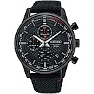 SEIKO精工 CS 城市系列三眼計時手錶(SSB315P1)-黑/42mm