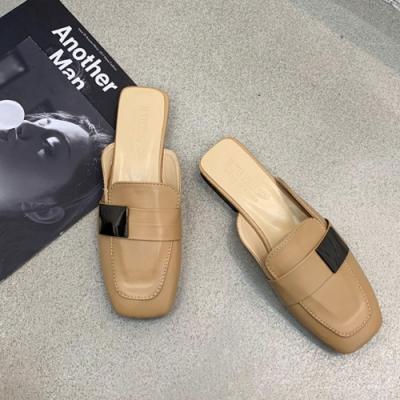 KEITH-WILL時尚鞋館 百搭簡約時尚淑女穆勒鞋-杏