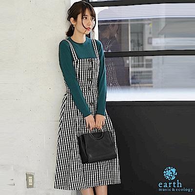 earth music 【SET ITEM】3WAY短版排扣吊帶背心+排扣長裙