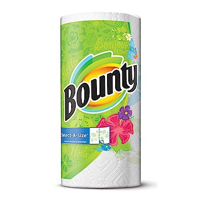 美國Bounty 彩色印花廚房紙巾-隨意撕(131張)/捲
