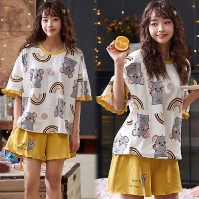 【韓國K.W.】(預購)女人最大甜美塗鴉套裝褲-1色
