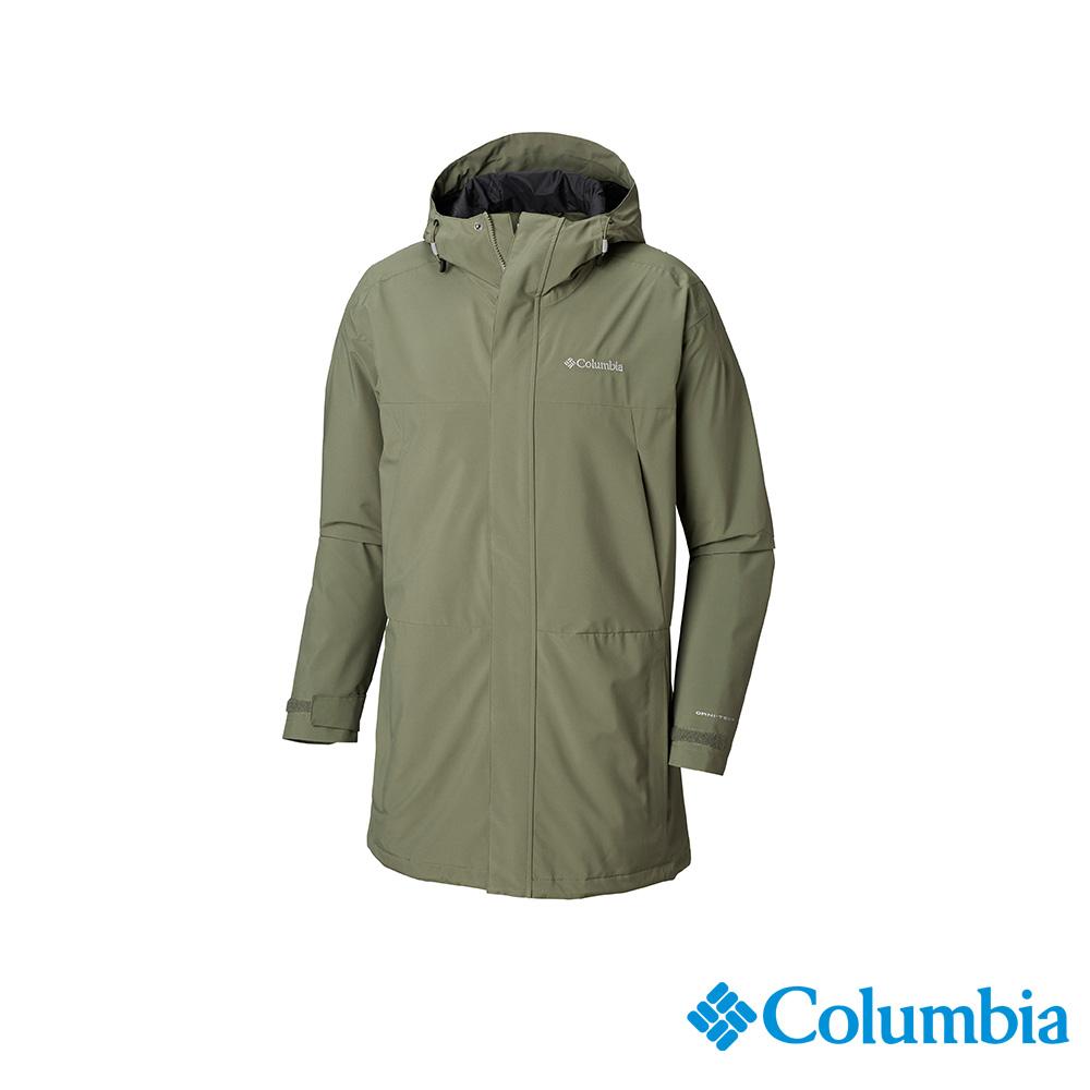 Columbia 哥倫比亞 男款-OT防水外套-軍綠 UWE12820AG