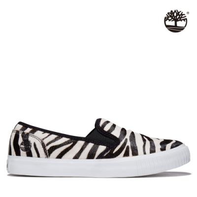 Timberland 女款斑馬紋皮革休閒鞋|A2GW6