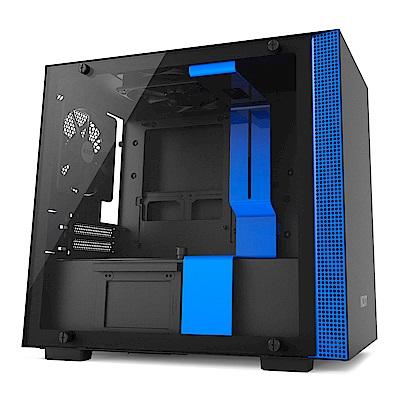 NZXT【H200】玻璃透側 ITX電腦機殼《黑藍》