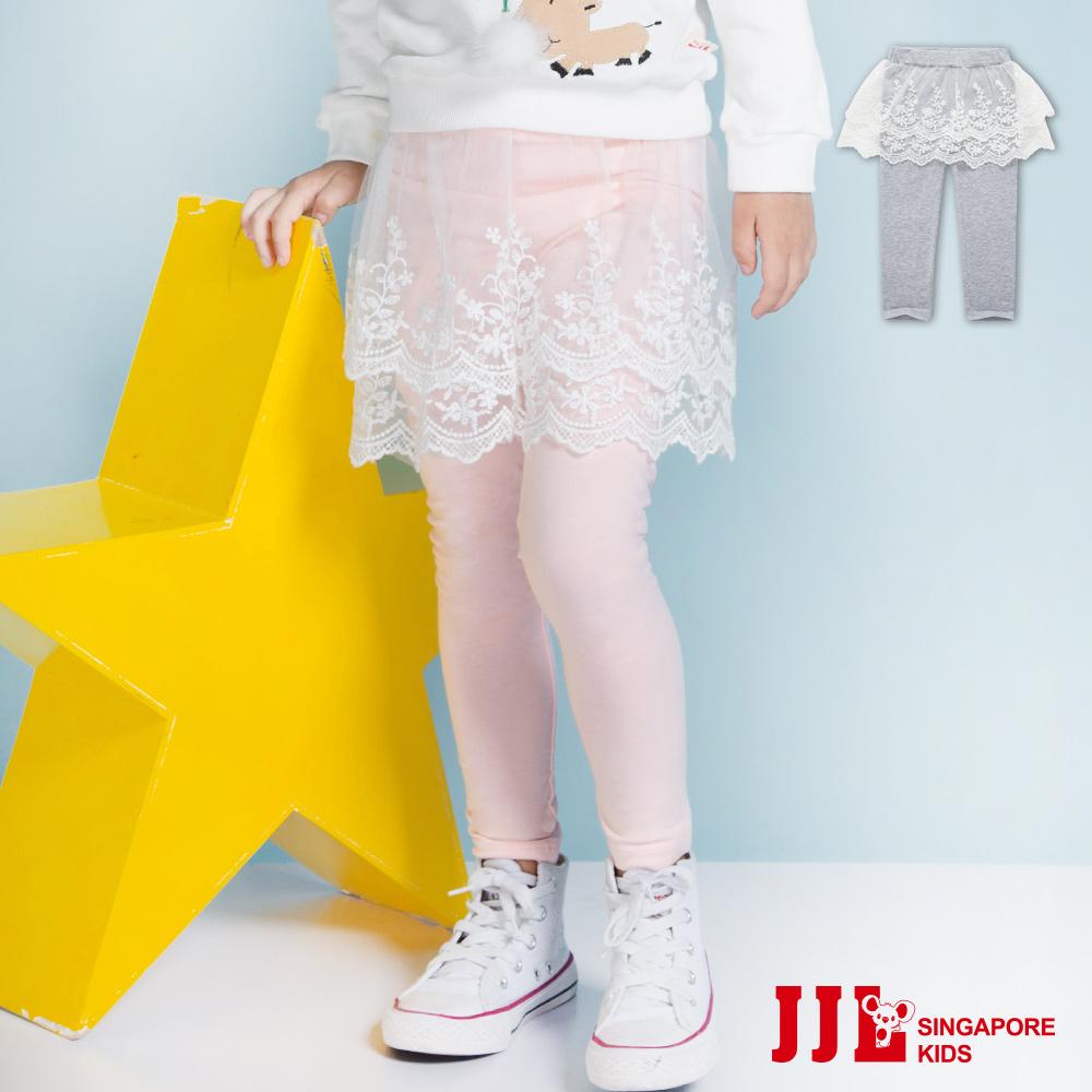 JJLKIDS小花刺繡網紗層內搭褲裙2色