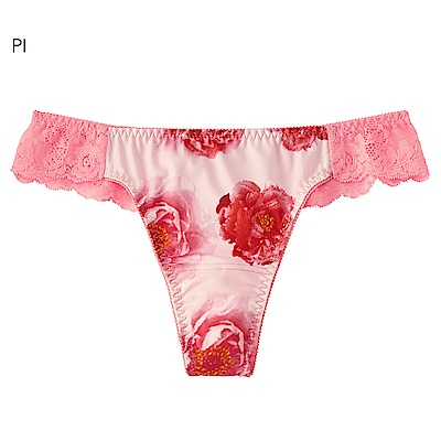 aimerfeel 奢華花卉無痕丁字褲-粉紅色