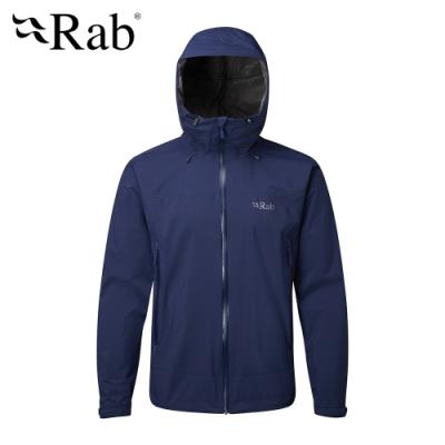 【RAB】Downpour Plus 高透氣防水外套 男款 藍圖 #QWF67