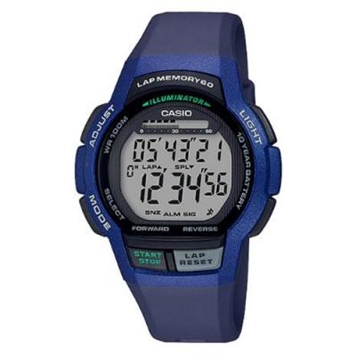 CASIO 數位時代輕量型混色運動休閒錶(WS-1000H-2A)藍框/48.3mm