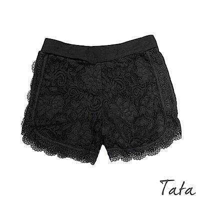 素面彈性蕾絲安全褲 共二色 TATA