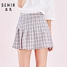 SEMIR森馬-復古百摺法式風格造型短裙-女