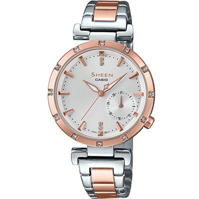 CASIO SHEEN 優雅風采時尚腕錶(SHE-4051SPG-7A)白/32mm