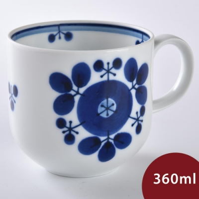 日本 Hakusan  BLOOM 馬克杯 花圈 360ml