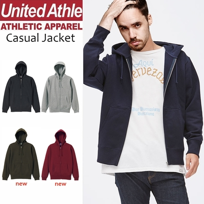United Athle日系素面連帽外套 10盎司重磅刷毛 亞規UA 情侶裝 保暖內刷毛上衣
