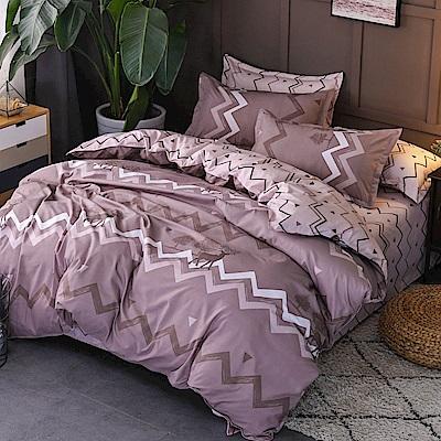 La Lune 台灣製經典超細雲絲絨雙人加大兩用被床包四件組 古意秋風