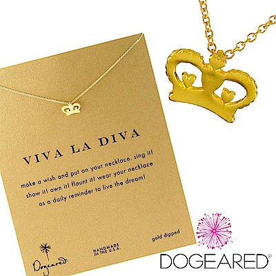 Dogeared 愛心公主皇冠 heart crown 金色許願項鍊 附原廠盒