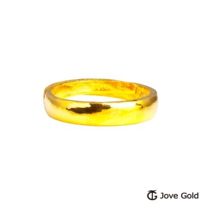 Jove Gold 漾金飾 長久賺黃金男戒指