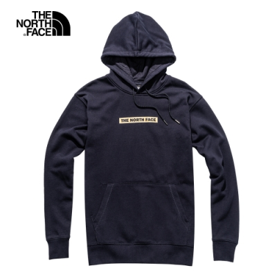 The North Face北面男女款深藍色連帽大學T|4UDKRG1