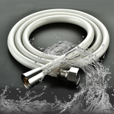 (超值2入)莫菲思 2M PVC防爆蓮蓬頭浴室軟管/大流量水管 蓮蓬頭配件