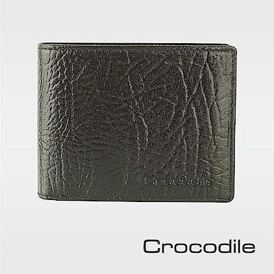 Crocodile牛頸紋系列拉鏈短夾-上翻款 0103-08903