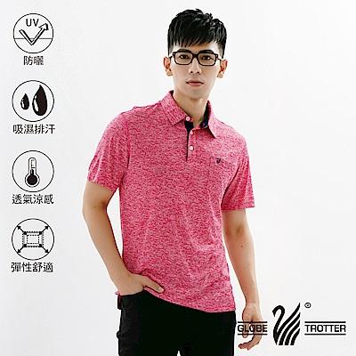 【遊遍天下】MIT男款吸濕排汗抗UV速乾機能POLO衫GS10023紅色