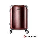 AIRWALK - 都市行旅20吋特光立體拉絲金屬護角輕質拉鍊行李箱-共2色