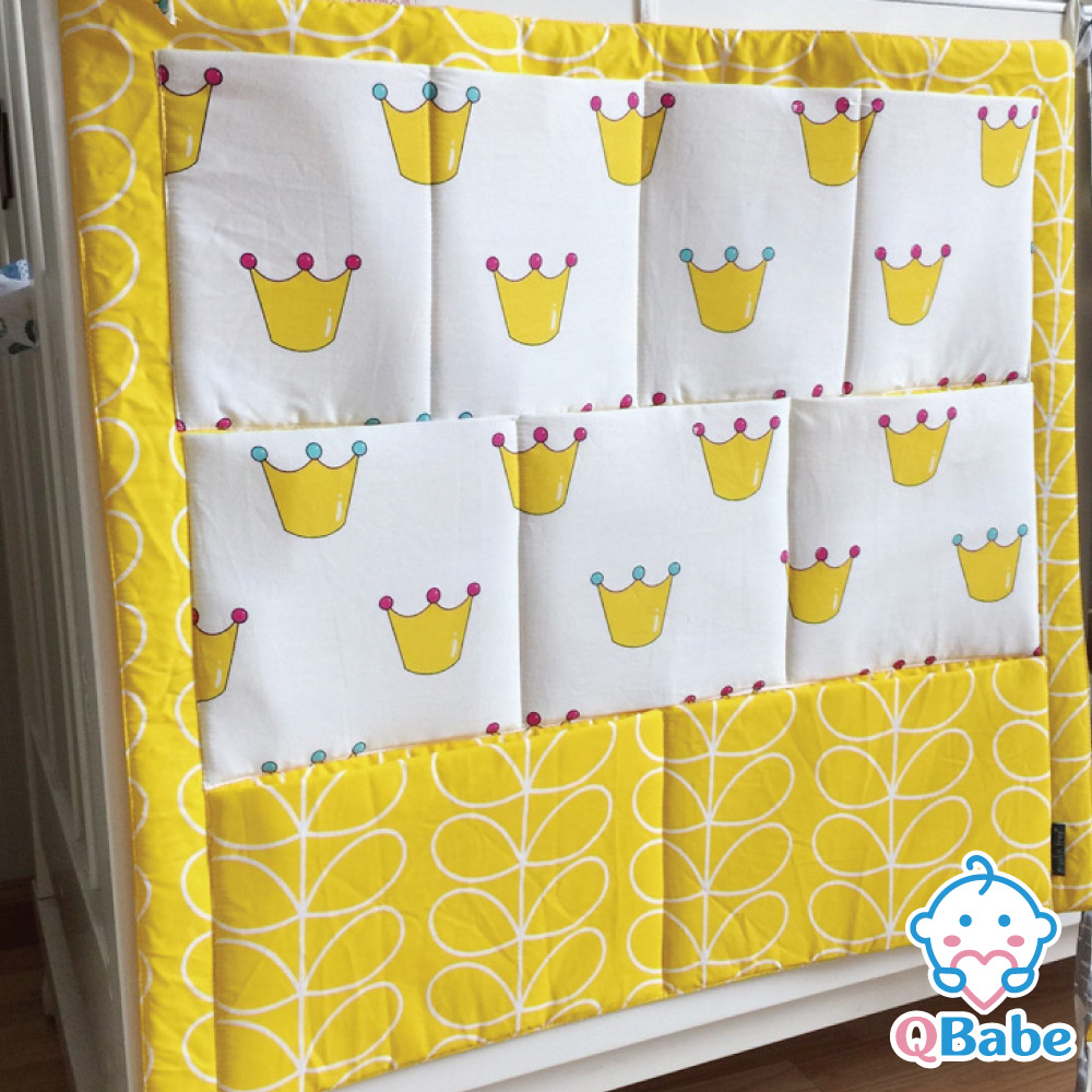 QBabe 嬰兒床邊多層收納置物掛袋-皇冠