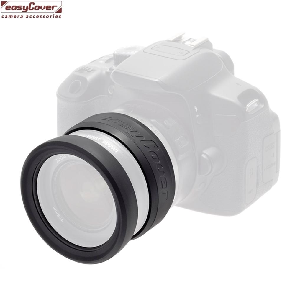 easyCover彈性抗撞刮矽膠鏡頭保護套Lens Rim 77mm