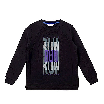 FILA KIDS 童長袖針織上衣-黑 1TES-8310-BK