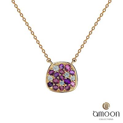 amoon 璀璨彩寶系列 繽紛 10K金寶石項鍊